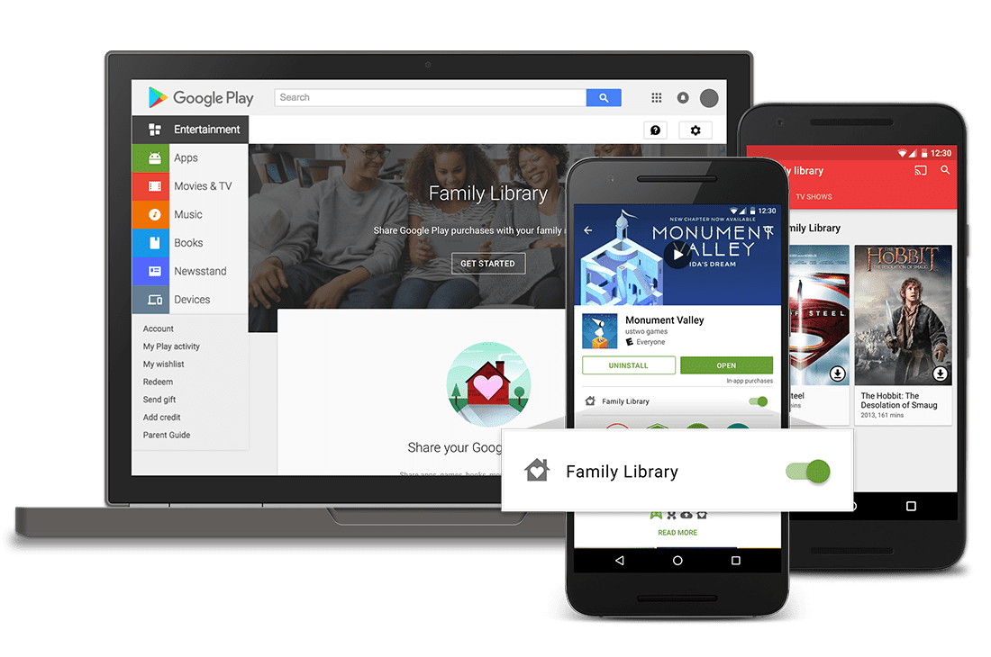 Google Play Family Library Works For Chromebooks Too