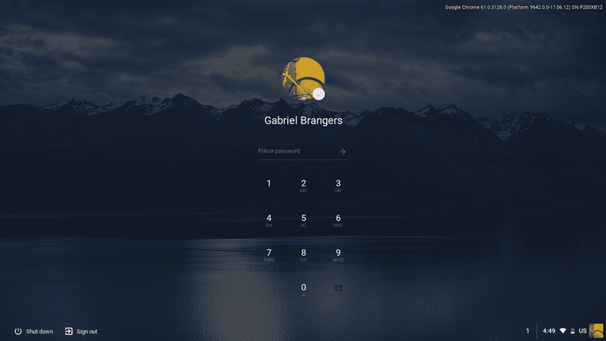 Chrome OS Canary Adds Material Design Lock Screen
