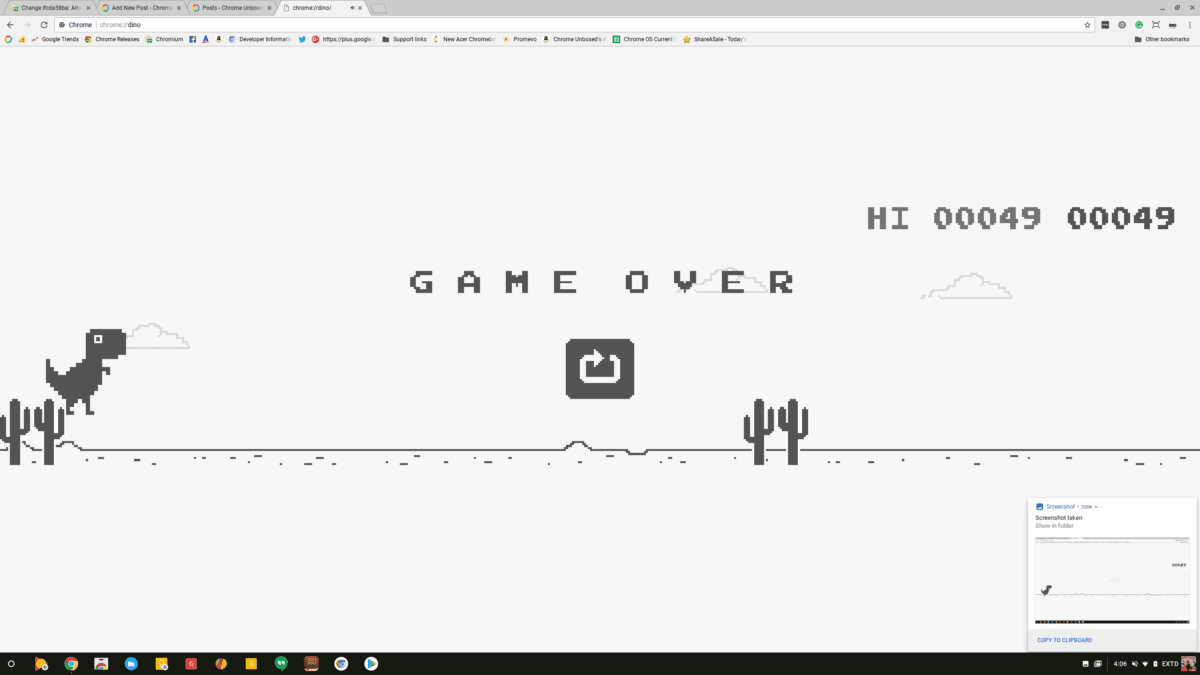 Chrome Dino Easter Egg Getting Touch Screen Support