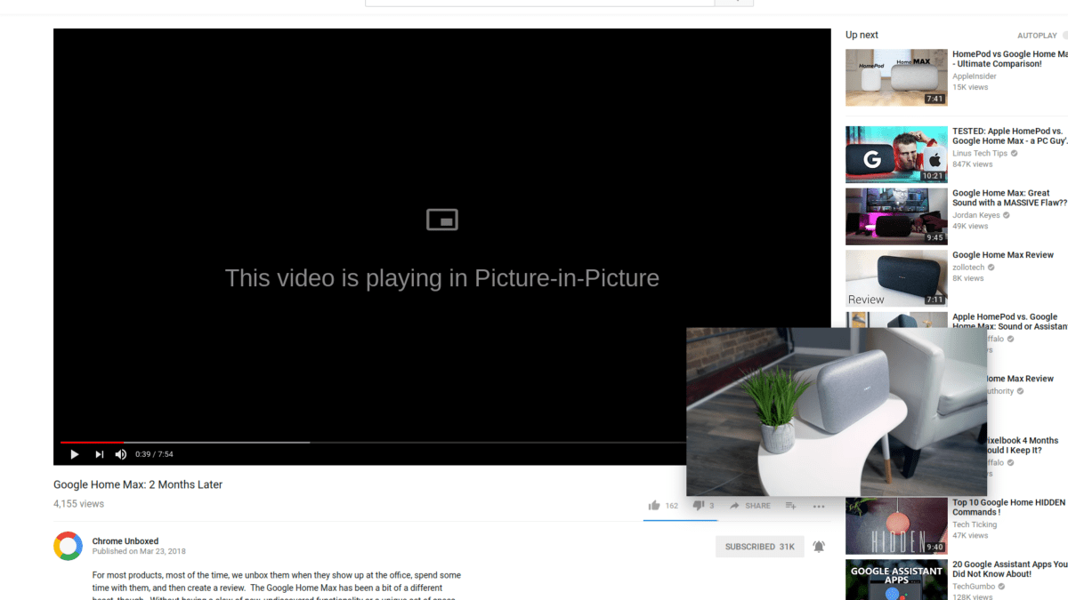 First Look: Picture-in-Picture Mode For Chrome