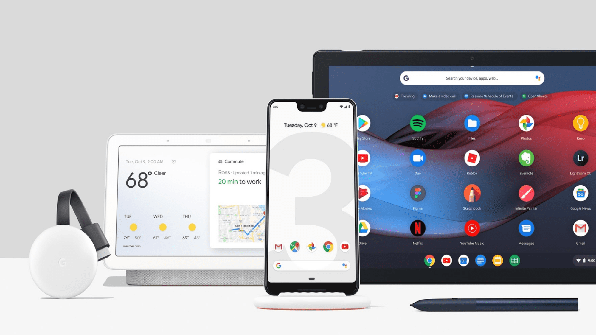 """Chromecast 3 Available. Google Home Hub, Pixel 3 and Stand Pre-orders Live and the Pixel Slate is """"Coming Soon"""""""