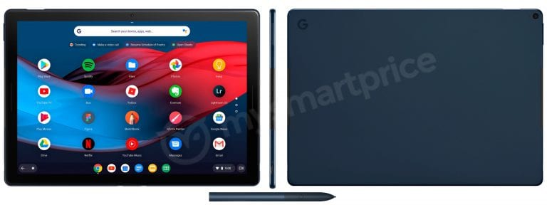 Pixel Slate Renders Confirm Google's Chrome OS Tablet: Detachable, Stereo Speakers and Matching Pen
