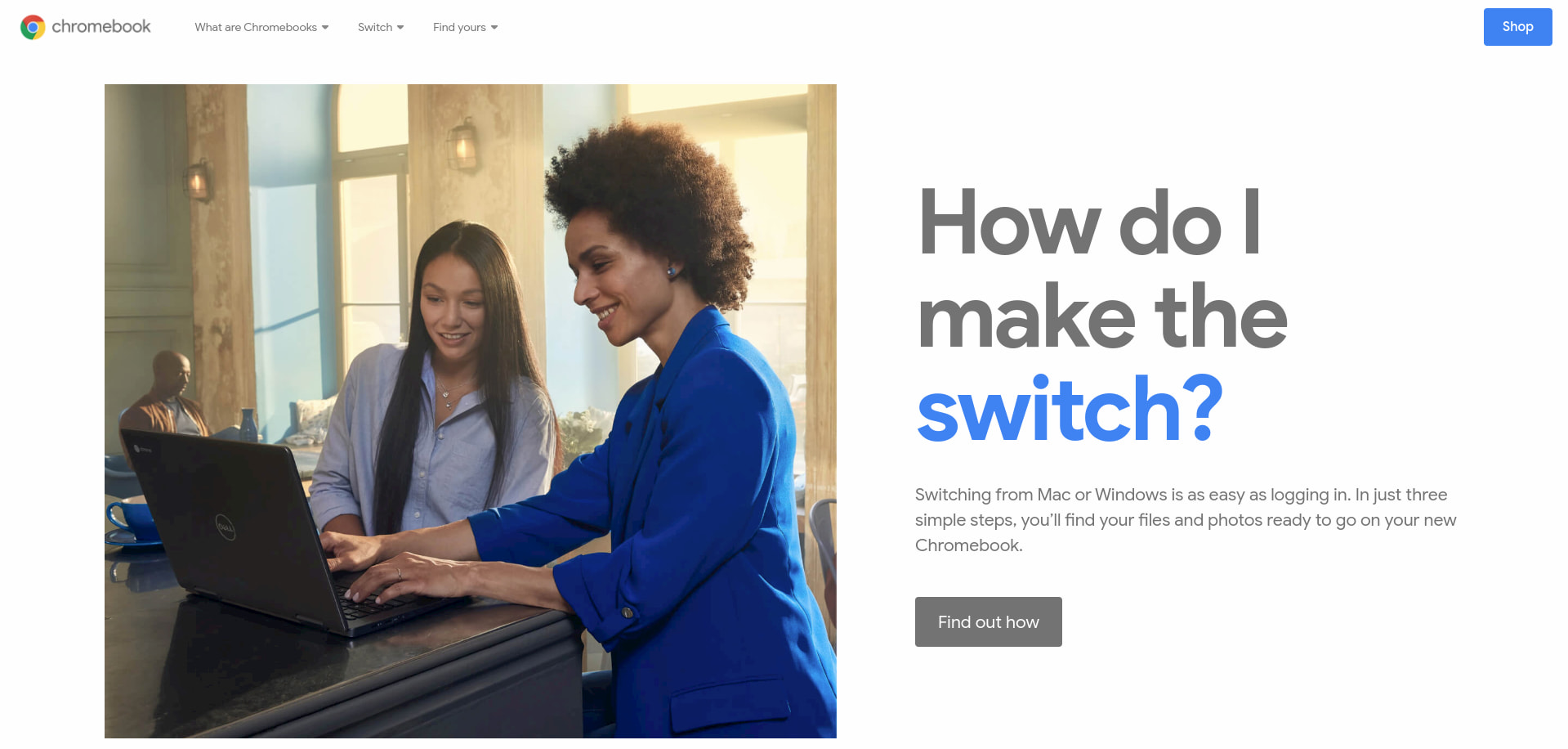 Google's new Chromebook landing page gets total overhaul, targets the consumer market