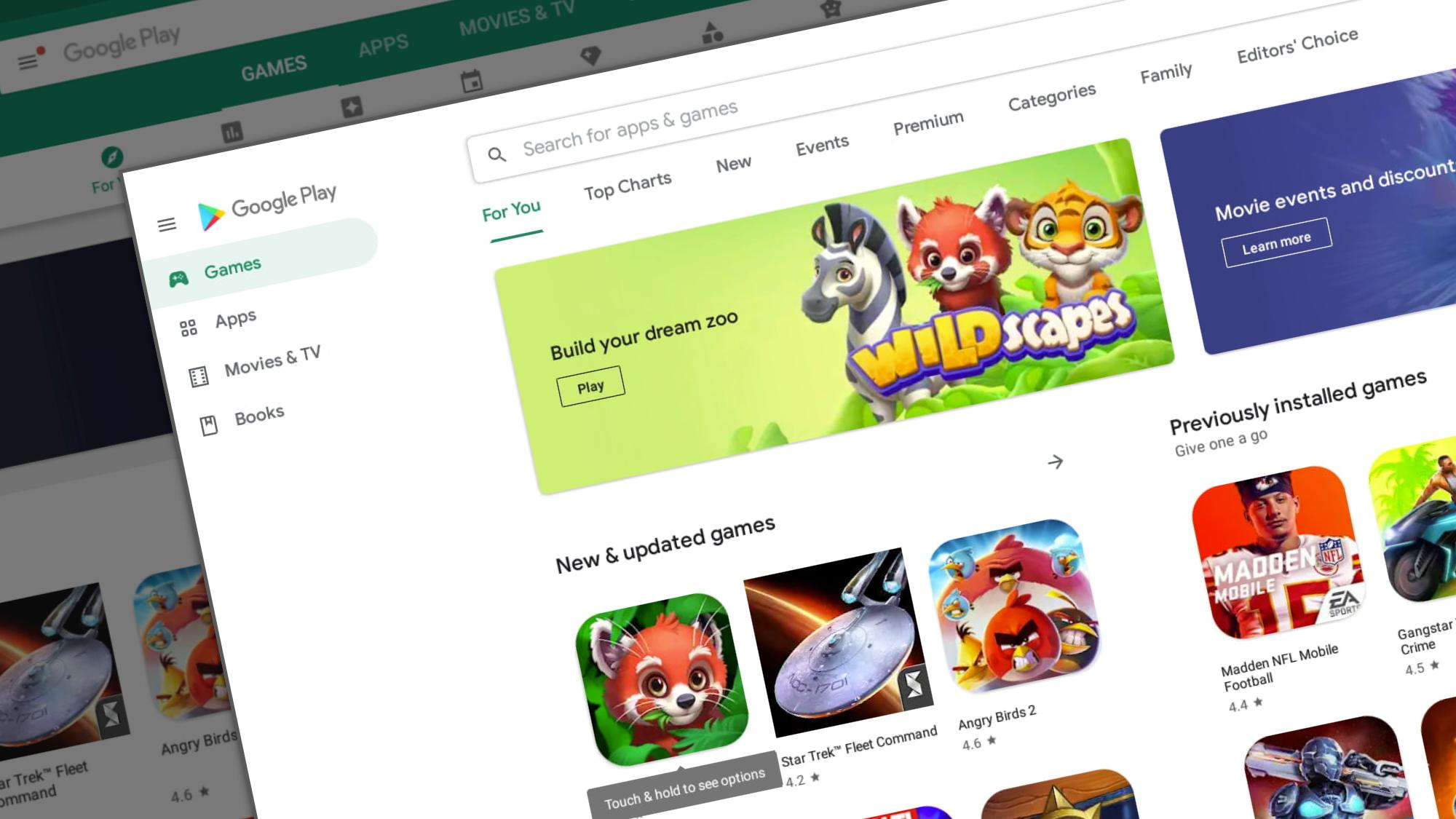 Google Play design overhaul is rolling out and it looks awesome on a Chromebook