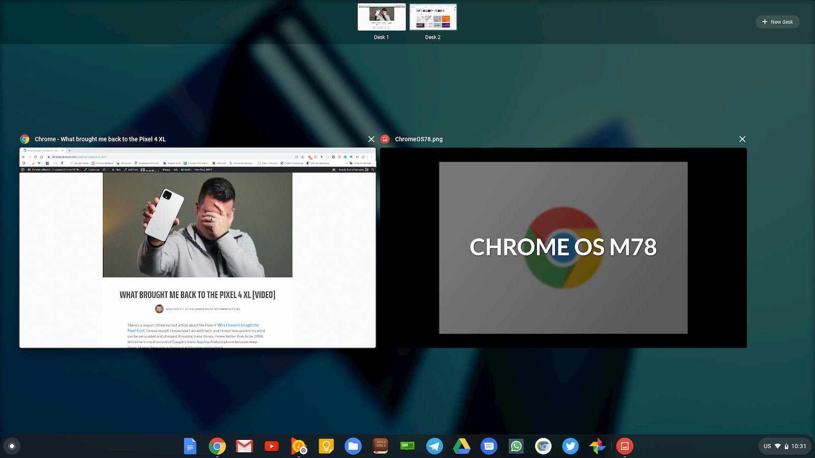 Chrome OS 78 arriving with easier printing, Virtual Desks, Click to Call and more