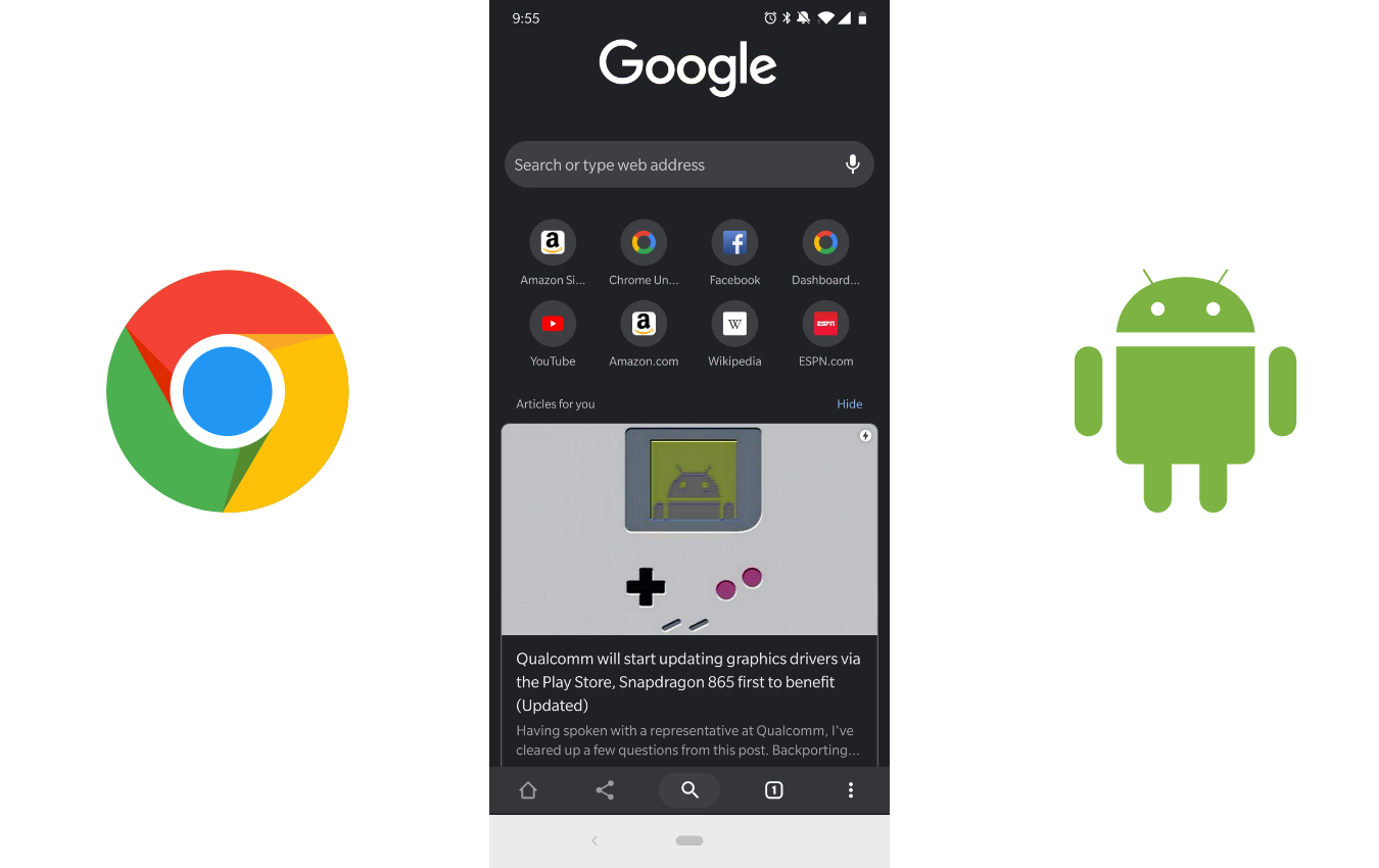 Chrome for Android adopts Google Discover look for New Tab Page