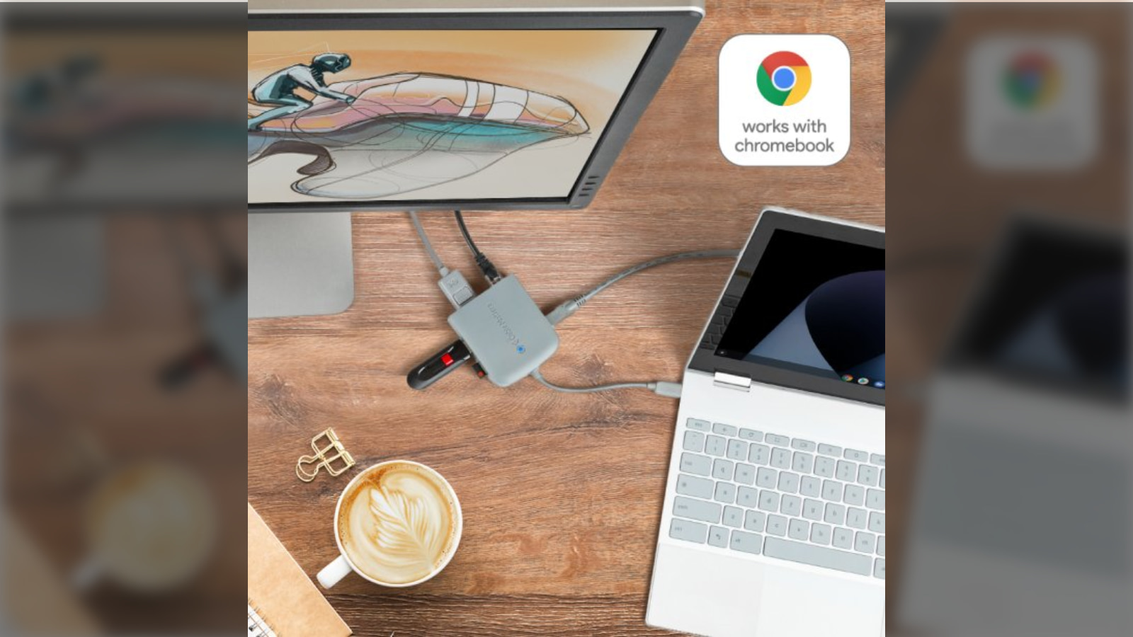 """""""Works with Chromebook"""" officially launched for certified Chrome OS accessories"""