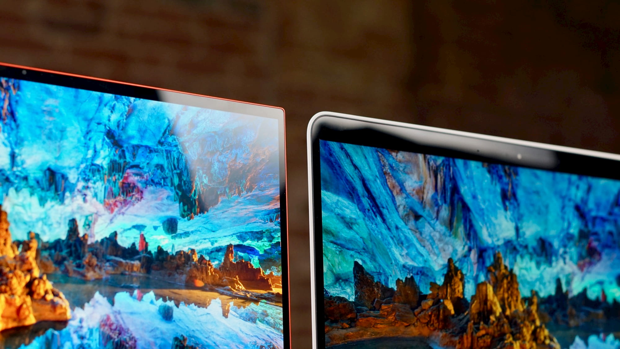 With the 4K screens on the Samsung Galaxy Chromebook and Pixelbook Go, there's really no contest